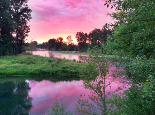Sunset at Irish Bend, Willamette River